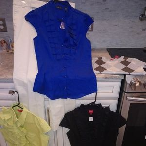 5pc set! Trouser, ss sweater + 3 blouses!!!